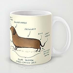 Anatomy of a Dachshund Hot Coffee Cup Mug 11 Oz. Geramic ...