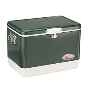 Coleman 54-Quart Steel-Belted Cooler, Green