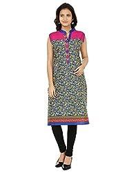 Shagun Creation Blue Pink Printed Kurti-40-For Women, Girls
