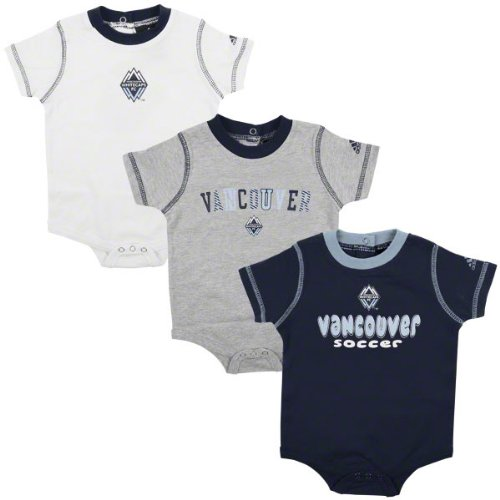 Vancouver Whitecaps Newborn Creeper 3 Pack