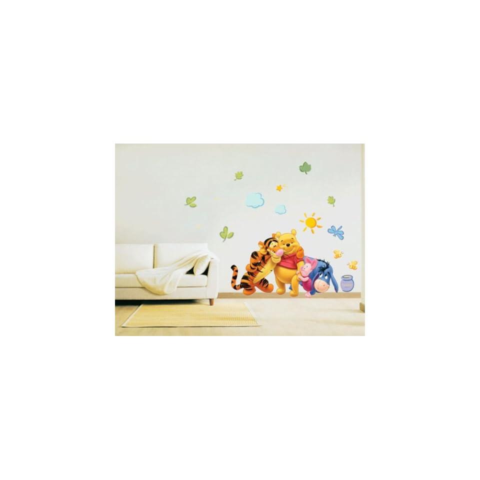 Super Giant Winnie the Pooh & Friends Peel & Stick Nursery Kids Room Wall Art Stickers