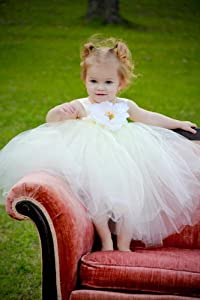 Flower Girl Ivory Tulle Dress for Weddings - Flower Girl Dress