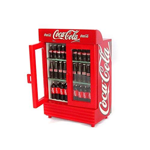 Dollhouse Miniature Coca Cola 2-Door Refrigerator front-406071
