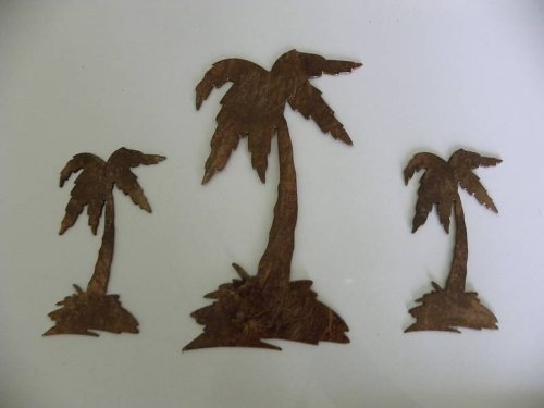 Palm Tree Set Of 3 Metal Wall Art Decor