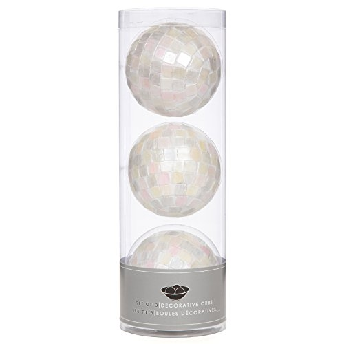 Hosley's Elegant Expressions Set of Three Pearl Orb Set