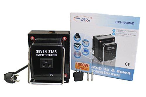 SEVENSTAR THG 1000 UP/DOWN Maximum Capacity Heavy-Duty Continuous Use Transformer (1000 Watt Transformer compare prices)
