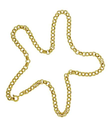 9ct Yellow Gold Hollow Round Belcher Chain 40cm