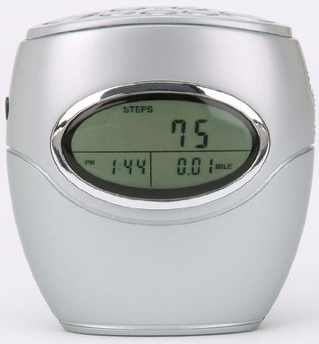 Cheap Pedometer Talking Pedometer with FM Scan Radio–WRDS99TSilver (WRDS99TSilver)