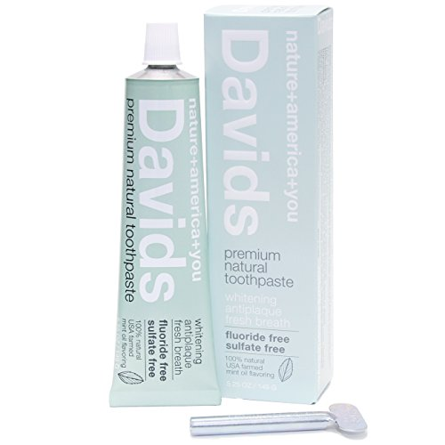 Davids-Natural-Toothpaste-Whitening-Antiplaque-Fluoride-Free-SLS-Free-Peppermint-Oil-525-OZ-Tube-Roller-Included