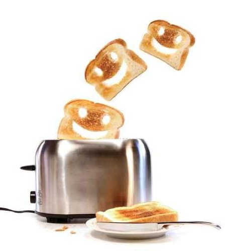 Toasted Bread with Toaster on White - 24