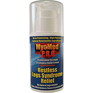 Best Restless Legs Calming Creme By Myomed 3.5oz. Fast Relief For Restless Leg Syndrome Treatment & Leg Cramps. Say Goodbye To Restless Legs. Our Restless Leg Products are All Natural And Homeopathic.
