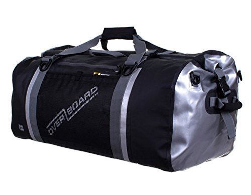 Overboard Pro-Sports Waterproof Duffel Bag - Black, 90 Litres by Overboard