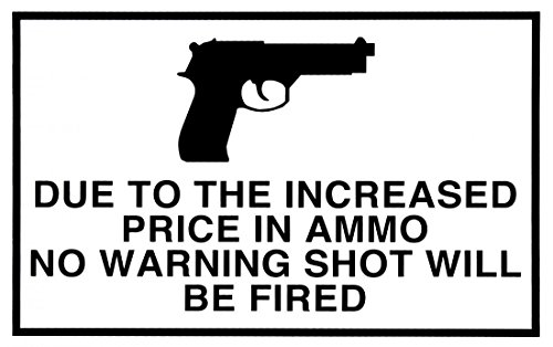 1-pc-exciting-modern-gun-warning-signs-message-decal-waterproof-1-side-printed-size-11-x-7