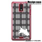 HTC J ISW13HTハード ケース カバー ジャケット/1089_チェック犬シルエットブラック/CR