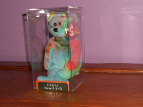 TY Beanie Baby - GARCIA the Ty-dyed Bear (4th Gen hang tag) - 1