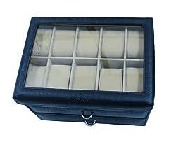 Essart Polyurethane Watch Box Black-10030A