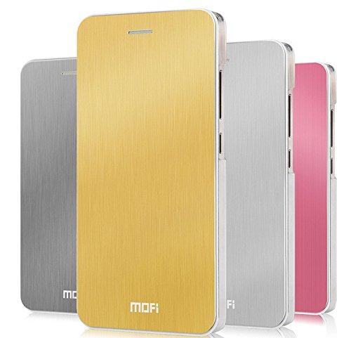 Mofi Thin Metal Front Flip Cover Case Panel for Xiaomi Mi4 Miui Mi4 - Silver Color