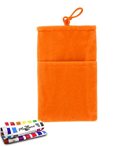"""Originale Handytasche """"Cocoon"""" Orangefarben von MUZZANO für SONY XPERIA P / LT22 / LT22i"""