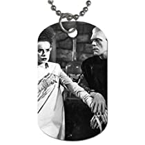 "Bride of Frankenstein Dog Tag with 30"" chain necklace Great Gift Idea"