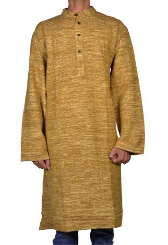 Casual Indian Khadi Mens Long Kurta Fabric For Winter & Summers Size 5XL