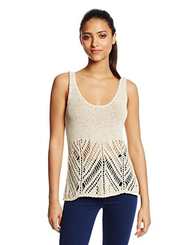 LAmade Women's Open Stitch Tank Sweater