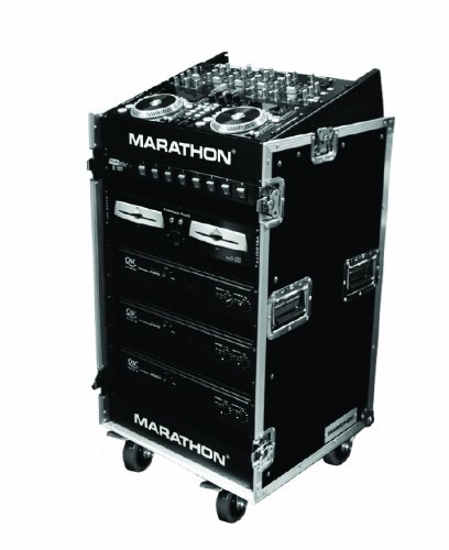 Marathon Flight Road Case Ma1016We 10U Slant Mixer Rack/16 U Vertical Rack System With Caster Board (Light Medium Duty)