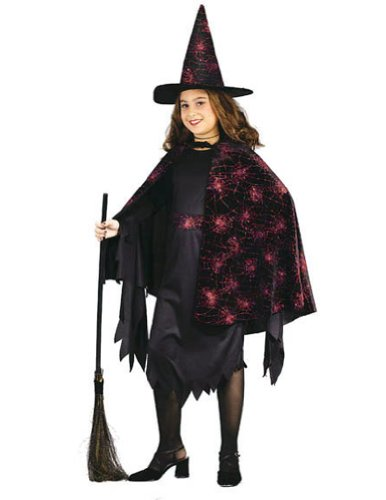 girls - Witch Glitter Chip Child Sm Halloween Costume - Child Small