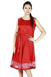 Faireno Fab Women's Rayon & Net Brasso Dress