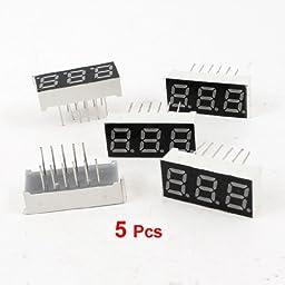 TOOGOO(R) 5 Pcs Common Anode 12 Pin 3 Bit 7 Segment 0.28\