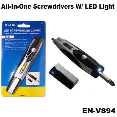 K-Lite All-In-One Screwdrivers,Level & Led Work Light Combo Tool