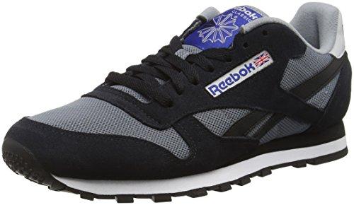 Reebok Classic Sport Clean, Scarpe da Ginnastica Basse Uomo, Multicolore (Asteroid Dust/Black/Skull Gry/Tm Drk Royal), 43 EU