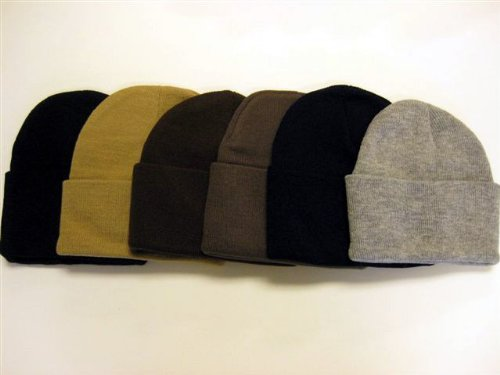 6-Pack! Knit Beanies / Great Deal! / Black, Khaki, Brown, Olive, Navy, and Gray6-Pack! Knit Beanies / Great Deal! / Black, Khaki, Brown, Olive, Navy, and Gray