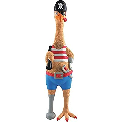Westminster Pet Products Captain Jack Rubber Chicken Dog Toy