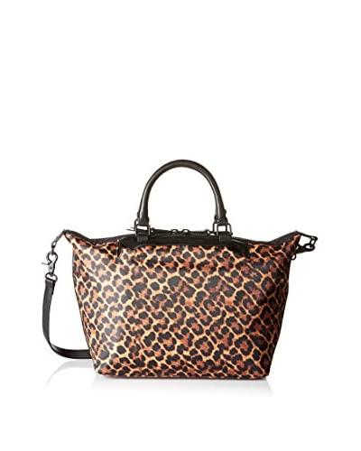 French Connection Women's Piper Nylon Tote, Leopard/Black