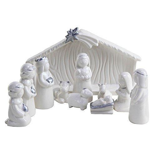 decor/ées /à la Main Alessi Amgi10set3 Tiny Little Sheep Set de deux Figurines en Porcelaine