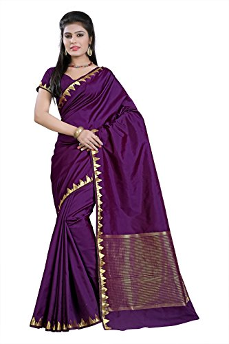 e-VASTRAM Womens Art Silk Saree(PIPINGWINE_Wine)
