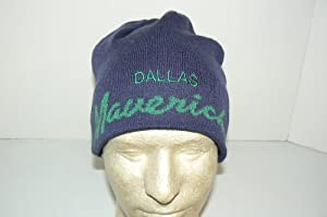 NBA Officially Licensed Dallas Mavericks Script Hardwood Classic Beanie Hat Cap Lid Skully from Imagine Foods