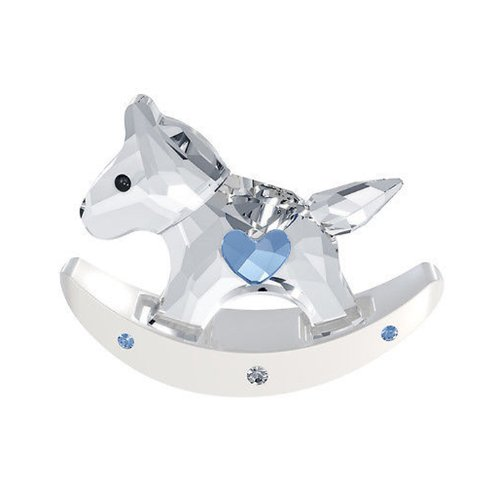 Swarovski Rocking Horse, Crystal and Light Sapphire Figurine