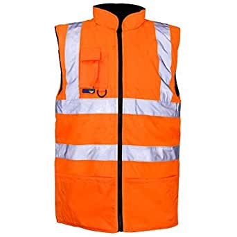 Exact Colour: ORANGE with reflective strips - Rail GO/RT   Chest Size: M MEDIUM   Use: High vis construction traffic thermal warm builder