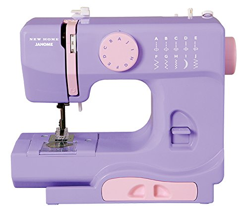 Janome Lady Lilac Basic, Easy-to-Use, 10-Stitch Portable, Compact Sewing Machine with Free Arm only 5 pounds (Janome Travel Sewing Machine compare prices)