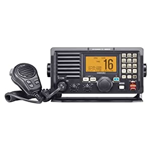 Icom M604A Marine VHF Radio with Built-In Hailer, Alphanumeric Keypad and Front Mount... by Icom