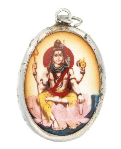 Hindu Ceramic Pendant: Shiva