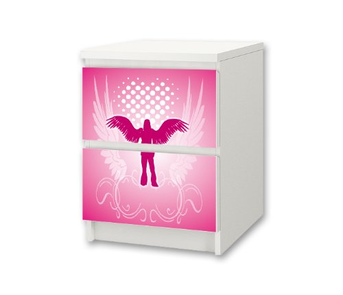 Pink World Sticker-Set for Nursery Chest of Drawers / Bedside Cabinet MALM from IKEA - NS28