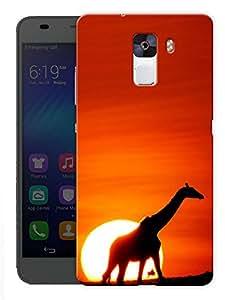 "Humor Gang Giraffe Life Printed Designer Mobile Back Cover For ""Huawei Honor 7"" (3D, Matte, Premium Quality Snap On Case)"