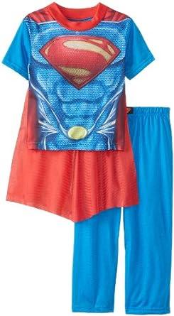 AME Sleepwear Little Boys' Superman Costume Pajama Set, Assorted, 4