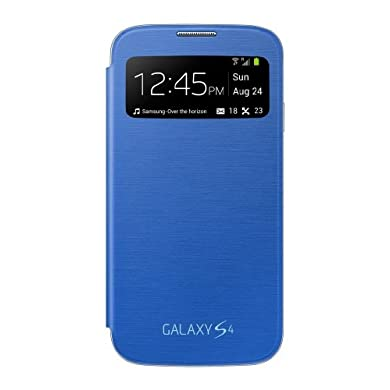 Samsung Galaxy S4 S-View Flip Cover Folio Case - Light Blue