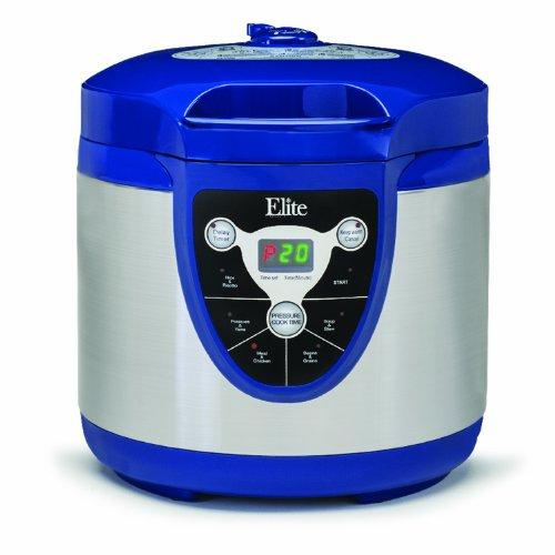 Maximatic Epc-607 Elite Platinum 6-Quart Digital Electronic Pressure Cooker, Blue