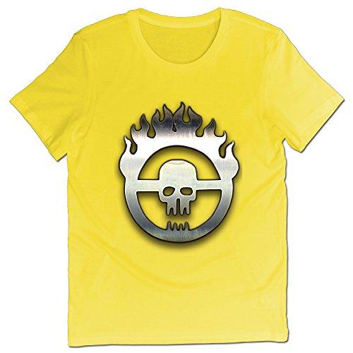 PECIALNI 男 Tシャツ War Boy Gay 映画 プリントtシャツ シンプルなデザイン X-Large イエロー -