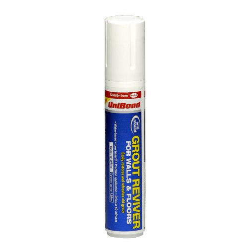 UniBond Anti-Mould Grout Reviver for Floors and Walls Pen 15ml - Ice White