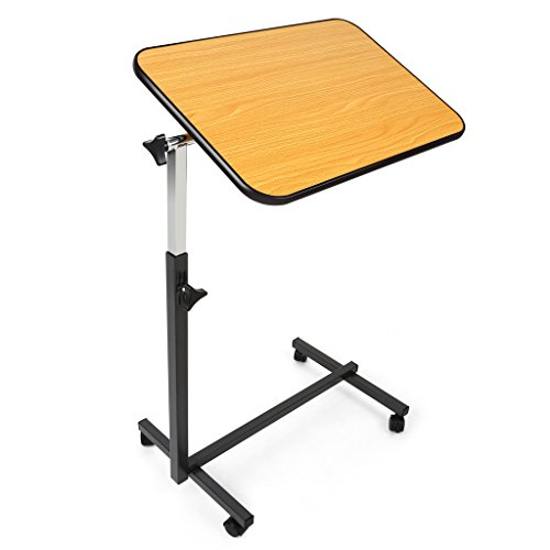 JCMASTER Overbed Table on Wheels, Height Adjustable Tilt Over Bed Table for Hospital and Home Use (Tray Table Adjustable compare prices)